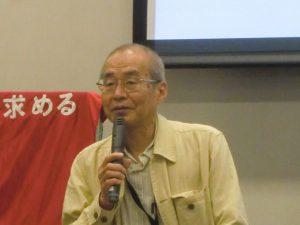 原告代表の慶応大学名誉教授の川村晃生さん